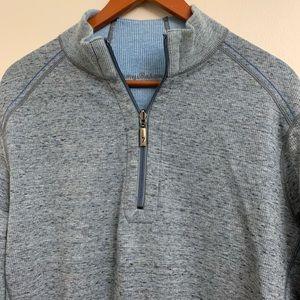 Tommy Bahamas half zip, pullover sweatshirt